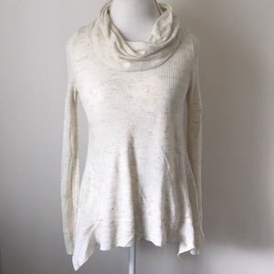 Sleeping on snow Anthropologie cowl neck sweater